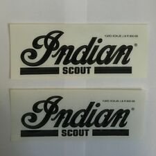 Indian Motorcycle 02 Scout Black Tank Decals Set, 89-308