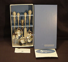 VTG ONEIDA DELUXE CHATEAU 5 PIECE HOSTESS SET SOLID STAINLESS STEEL Flatware NIB