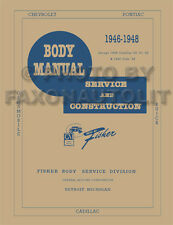1946 1947 1948 Chevrolet Car Body Shop Manual Chevy Fisher Repair Service