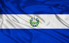 EL SALVADOR FLAG NEW 3X5 ft SOCCER 90x150cm satin type material