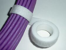 20mm CABLE TIE VELCRO STRAP 25m WHITE *GENUINE VELCRO*