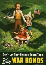 World War 2 USA War Bonds Poster 7x5 Inch Reprint