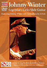 Johnny Winter Legendary Licks Slide Guitar Learn Play Bob Dylan Folk Music DVD