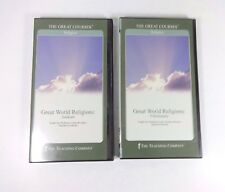 Lot (2) The Great Courses: Great World Religions (DVD's) Judaism/Christianity