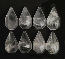 Natural Rock Crystal Quartz Chandelier Pendants Parts Prisms Flat Kite 85mm 8pc