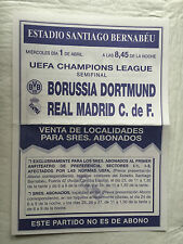 FANZINE REAL MADRID SPAIN BORUSSIA DORTMUND GERMANY CHAMPIONS LEAGUE 1997 1998