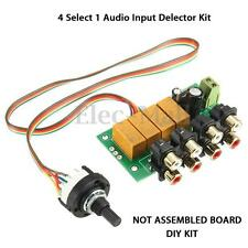 Audio Switching Board 4 Select 1 Audio Input signal Selector Relay Board DIY Kit