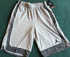 NWT Nike Jordan Boys M Light Gray/Gray/Black/White Basketball Shorts Med10-12