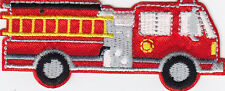FIRE TRUCK - FIRE DEPARTMENT - VEHICLE - CHILDREN -  Iron On Embroidered Patch