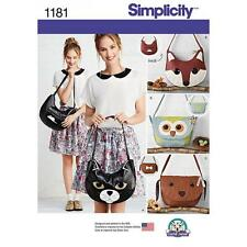 SIMPLICITY SEWING PATTERN BAGS FOX BAG DOG BAG OWL BAG  1181