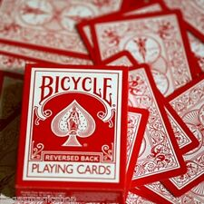 Red Reversed Back Deck Bicycle Playing Cards Poker Size USPCC + Magic Tricks