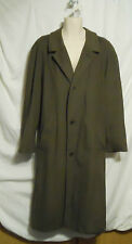 Strellson Of Switzerland Olive Cashmere Wool Blend Trench Over Coat Men's