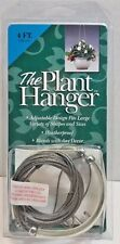 """Pot Basket """"The Plant Hanger"""" Stainless Steel Cable 4FT NEW"""