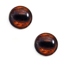 Pair of 25mm Brown Horse Glass Eyes for Jewelry or Taxidermy Doll Making