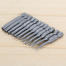 12pcs 50mm 1/4 Hex Torx Head Batch Electric Screwdriver Bit Magnetic T5-T40 Set