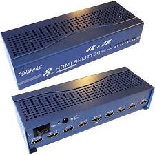 8 Port/Way 4K HDMI Splitter – 1 Input 8 Output Full/Ultra HD Sky Multi-room TV