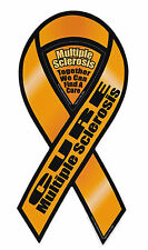Magnetic Bumper Sticker - Multiple Sclerosis Awareness - Ribbon Support Magnet