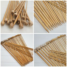Lot 18 Paire Aiguille Tricoter Bambou Tricot Laine Pull Knitting Needle 2-10mm