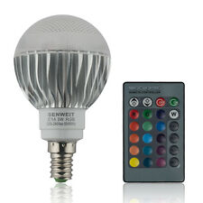 E14 RGB LED Bulb 5W Dimmable Light 16 Colour Changing Disco Mood Lamp + Remote