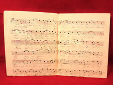 Antique German Sheet Music Handwritten Latter 1800s Das Herz Am Rhine Chrishmus