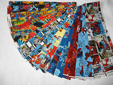 "FUMETTI Super Eroi Mix Tessuto Jelly Roll 20 x 44""/Spiderman Superman/Batman"