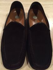 A. TESTONI Brown Suede Loafers Mens Dress Shoes ITALY - 10 M Excellent!