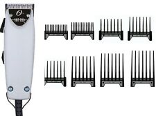 Oster Professional Brushed Aluminum Color Fast Feed Clipper + Free 8-pc Comb Set