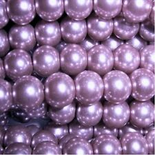 100 pieces 8mm Glass Pearl Beads - Lilac Purple - A1004