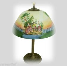 E Miller vintage reverse painted electric table lamp - FREE SHIPPING