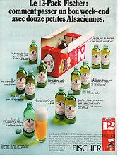 PUBLICITE ADVERTISING 044  1971   FISCHER  bière le 12 pack