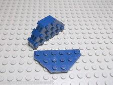 Lego 4 Platten 3x6 2x diagonale Ecken dunkelblau navyblau 2419 Set 8971 7678