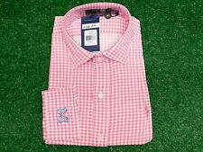 Polo Golf Ralph Lauren Pink White Check Sport Shirt L Large NGLA Logo New NWT