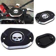 Skull Front Brake Master Cylinder Reservoir Cover 4 Harley Sportster XL883 1200