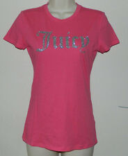 NEW Women Juicy Couture T-Shirt Solid Pink Cap Sleeve Casual Size XS NWOT