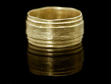 14k yellow gold wedding ring for man/woman. 14k white gold wedding ring handmade