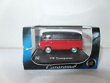 Cararama 1/72 Scale VW Volkswagen Transporter Red & Black