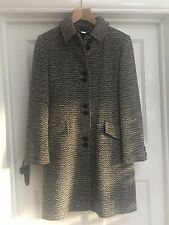 NEXT BLACK & WHITE 75% WOOL WINTER COAT ~SIZE 8 ~EXCELLENT CONDITION