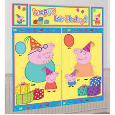 PEPPA PIG BIRTHDAY SCENE SETTER PARTY WALL DECORATING KIT PHOTO PROP DECORATION