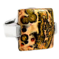 LPDR135 13g LEOPARD SKIN 925 STERLING SILVER RING JEWELRY s.7