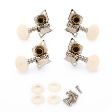 2R2L Tuning Pegs Machine Heads Tuners for Ukulele 4 String Guitar White Button