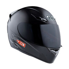 AGV K-3 Full-Face Motorcycle Helmet (Gloss Black) M (Medium)
