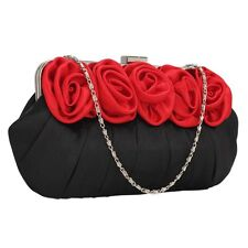 Ladies Stunning Red/Black Clutch Evening Bags Valentines Party Gift New