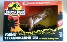 """Jurassic Park Young Tyrannosaurus Rex with """"Deadly"""" Slashing Jaws in Sealed Box"""