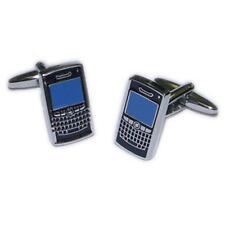Modern Smart Phone Cufflinks & Gift Pouch - Mens Gadget Mobile Phone