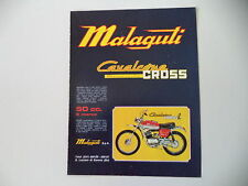 advertising Pubblicità 1973 MOTO MALAGUTI CAVALCONE CROSS 50
