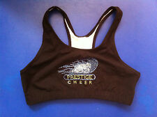 Pizzazz Sport Bra Top w/ Colored Rhinestones Workout/Running NWT!!!