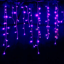 XMAS 3.5m 96LED Curtain String Fairy Lights For Christmas Garden Tree Party Home