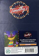 Timothy`s World Coffee Decaf Colombian K-Cup Coffee (48 count) , New, Free Shipp
