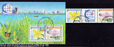 Singapore - 1992 Orchids (2nd Issue) - CTO - SG 674-5 + MS676