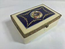 19 Century ? Antique Sevres ? Hand Painted Porcelain Box Makers Mark Letter S